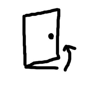 開き戸(押すドアのタイプ)