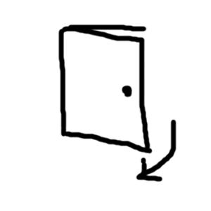 開き戸(引くドアのタイプ)