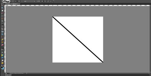PhotoshopElements対角線