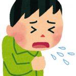 咳き込んで米が鼻の奥に